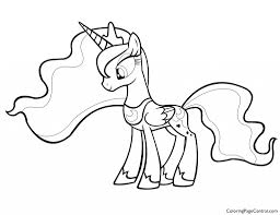 my little pony princess luna 01 coloring page
