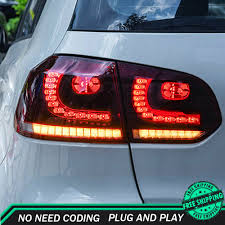 Details About New For Vw Golf 6 Led Taillights Mk6 2009 2012 Red Led Rear Lamps Dynamic