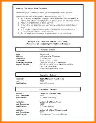 7 South African Curriculum Vitae Format Cv For Teaching
