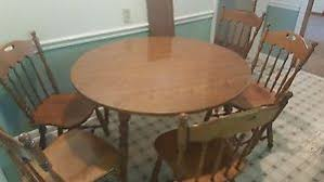 42 round table. Image Is Loading ETHAN-ALLEN-Heirloom-Nutmeg-Maple-42-Round-Table- 42 Round Table