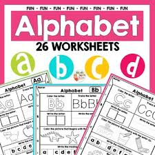 Instantly download over 200 printable alphabet coloring pages and activity worksheets for toddlers and preschool, including our uppercase and lowercase freebies. Alphabet Trace And Color Worksheets Teaching Resources Tpt