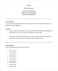 Resumes For Customer Service Jobs Sample Customer Service Objective 8 Examples In Pdf Word