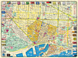 high quality barcelona city map barcelona tourist maps  other