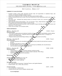 Actuarial Resume Template 5 Free Word Pdf Documents