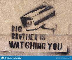 Big Brother is watching stock image ...
