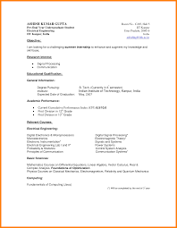 8 Curriculum Vitae Example For Students Theorynpractice