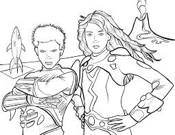 Sharkboy And Lavagirl Coloring Page By