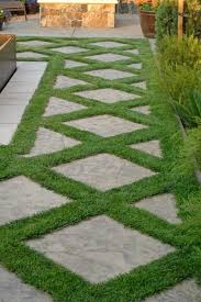 Small Picture Grass design with stone tile I am going to try this with creeping