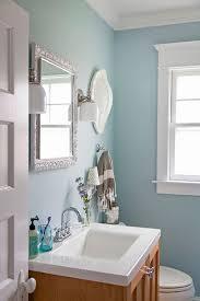 light blue bathroom paint. light blue bathroom -- benjamin moore gossamer wall paint, and decorator\u0027s white trim paint. paint c