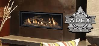 fireplace xtrordinair s high output linear gas fireplaces win prestigious adex award