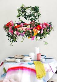 gorgeous diy fresh flower chandelier for party decor