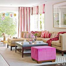 living room color scheme pretty in pink
