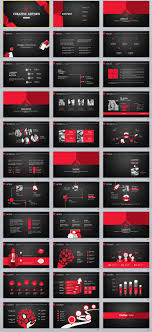 33 Red Black Creative Powerpoint Template