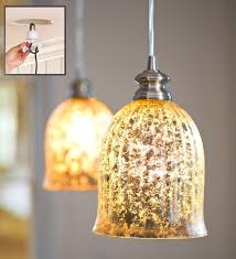 colored mercury glass pendant light