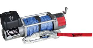 t max 9000lb 12v electric winch spooled synthetic rope t max t max 9000lb 12v electric winch spooled synthetic rope