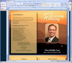 Funeral Pamphlet Templates Mesmerizing Free Funeral Program Templates YouTube Free Memorial Program