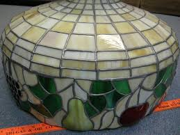 vintage stained glass hanging light fixture designs