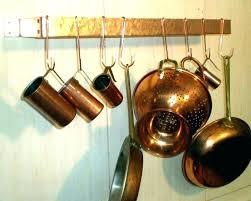pots and pan wall rack pot hanger how to hang pans hanging on diy racks yo