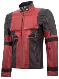 deadpool leather motorcycle jacket