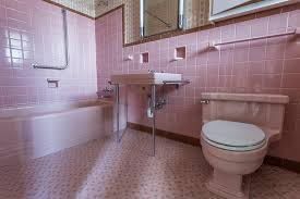 a lot of design trends have come and gone but few are as iconic as the pink bathrooms of the 1950s pam kueber founder of the save the pink bathrooms