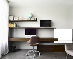 home office modern furniture. Design Ideas For A Modern Study Room In Melbourne With White Walls, Concrete Floors And Home Office Furniture