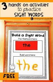Activities Word 3 Hands On Sight Word Activities That Kids Will Love