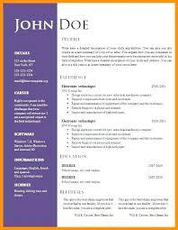Resume Template Download Free Word Resume Template Download Downloadable Resume Templates Word