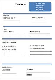 Resume Blank Form Download Blank Resume Form Hudsonhs Me