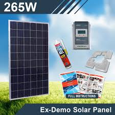 265w 12v ex demo complete diy solar kit camping caravan solar panel kits australia