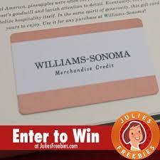 win a 1 000 williams sonoma gift card