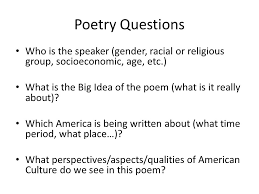 "how do you define your ""american ness"" week recap essays  3 poetry"