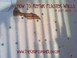 how to repair plaster walls