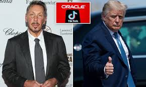 Oracle co-founder Larry Ellison's ties to Trump revealed after firm won bid  to take over TikTok | Daily Mail Online