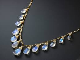 the symphony necklace rainbow moonstone necklace gold filled drop necklace statement necklace