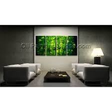 Paintings For Living Room Feng Shui Large Unique Original Abstract Feng Shui Oil Painting Bamboo Zen