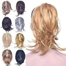 Woman's Fashion Blonde Gray Hair Accessories Claw <b>Curly Straight</b> ...