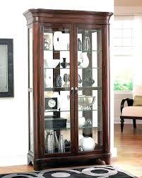 corner kitchen curio cabinet furniture inside prepare ashley oak