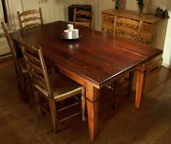 wood rectangular dining table. Wood Rectangular Dining Table Solid Rectangle Salvaged \u0026 Concrete Trestle D
