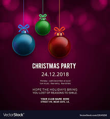 Party Invitation Background Image Merry Christmas Party Invitation Background Vector Image