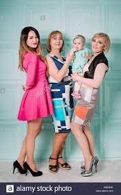 Style Studio Fashion Design School Happy Family Of Women Three Generations Fashion Style