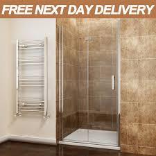 800mm bifold shower door enclosure frameless hinge walk in glass screen cubicle