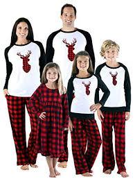 Sleepytime Holiday Family Matching Fleece Deer Plaid Pajama PJ Sets 12 best matching family pajama sets for Christmas or Hanukkah 2018
