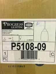 Progress Lighting P5108 09 Progress Lighting P5108 09 Wisten 1 Light Brushed Nickel Mini Pendant