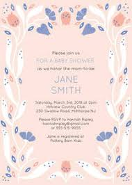 Cute Baby Girl Shower Invitations And Photo Card Templates Mixbook
