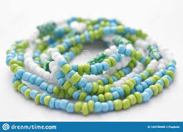 Designing Jewelry With Glass Beads Glass Beads Jewelry Set On White Background Stock Photo