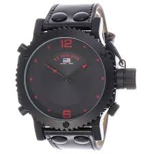 u s polo assn classic for men black dial leather band watch this item is currently out of stock