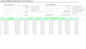 Repayment Schedule Template Loan Payment Calculator Template