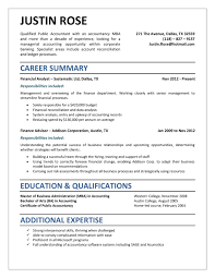 Free Download Resume Templates Microsoft Word Accounting Resume Template Sample And Complete Guide