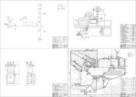 Курсовые и дипломные проекты по электроснабжению Чертежи РУ Дипломный проект Реконструкция системы электроснабжения посёлка