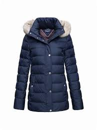 tommy hilfiger women s new tyra down jacket navy